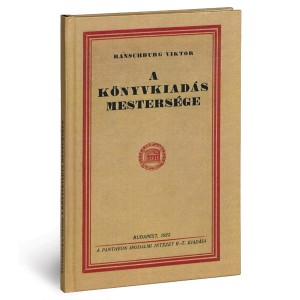 Ranschburg Viktor A könyvkiadás mestersége