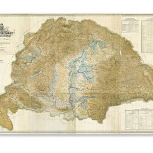 A magyar állam közúti, vasúti és vízi térképe 1887