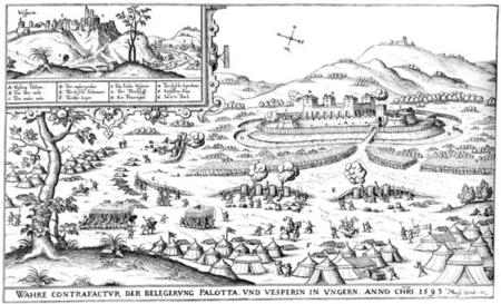 Palota és Veszprém 1593