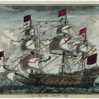 Egy angol admirális hajó