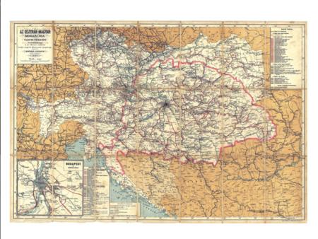 A monarchia vasúti térképe