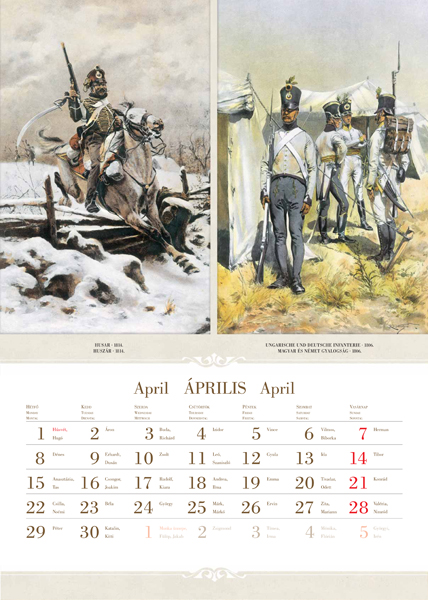 Az Osztrák hadsereg katonai uniformisai 2013-as naptár