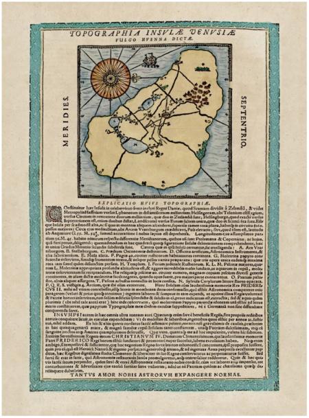 Hven sziget (Vénusz) szigetének térképe